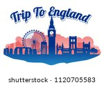 england famous landmark...   Shutterstock .eps vector #1120705583
