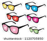 sunglasses vectors isolated | Shutterstock .eps vector #1120705850