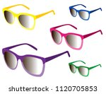 sunglasses vectors isolated | Shutterstock .eps vector #1120705853