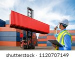foreman control loading... | Shutterstock . vector #1120707149