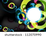 an abstract dark and colorful... | Shutterstock . vector #112070990