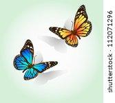 Stock vector easy editable vector butterflies 112071296