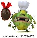 fun germ   3d illustration | Shutterstock . vector #1120714178
