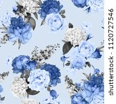 seamless floral pattern with... | Shutterstock .eps vector #1120727546