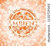 ambient orange mosaic emblem... | Shutterstock .eps vector #1120729343