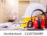 standard construction safety... | Shutterstock . vector #1120730489