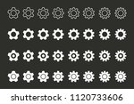simple vector setting icon. cog ... | Shutterstock .eps vector #1120733606