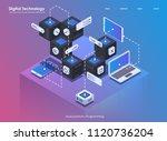 software development and... | Shutterstock .eps vector #1120736204