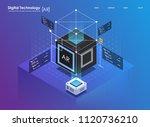 isometric design concept... | Shutterstock .eps vector #1120736210