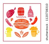 national hot dog day.  template ... | Shutterstock .eps vector #1120738310