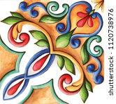 design for ceramic tiles ...   Shutterstock . vector #1120738976