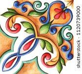 design for ceramic tiles ...   Shutterstock . vector #1120739000