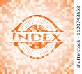 index abstract orange mosaic... | Shutterstock .eps vector #1120743653