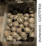 pyrite tumbled stones gem stone ... | Shutterstock . vector #1120757816
