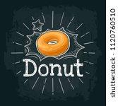 donut. vector color flat... | Shutterstock .eps vector #1120760510