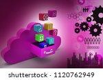 3d illustration of cloud... | Shutterstock . vector #1120762949