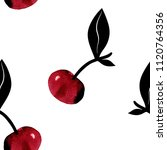 seamless pattern with cherries. ... | Shutterstock .eps vector #1120764356