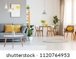 open space living and dining... | Shutterstock . vector #1120764953