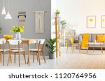 real photo of a spacious home...   Shutterstock . vector #1120764956
