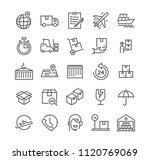 editable simple line stroke... | Shutterstock .eps vector #1120769069