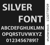 font of silver color. english... | Shutterstock .eps vector #1120775939