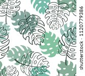 beautiful seamless doodle... | Shutterstock .eps vector #1120779386