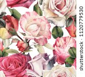seamless floral pattern with... | Shutterstock . vector #1120779530