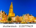 Antwerpen  Belgium. Night Scene ...