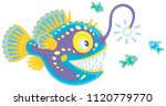 anglerfish hunting deep in a... | Shutterstock .eps vector #1120779770
