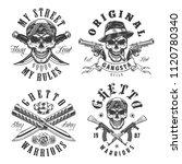 set of gangster emblems in... | Shutterstock .eps vector #1120780340