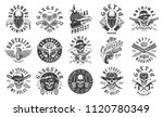 set of gangster emblems in... | Shutterstock .eps vector #1120780349