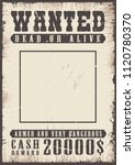wanted vintage poster template. ... | Shutterstock .eps vector #1120780370