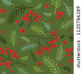 christmas seamless pattern with ...   Shutterstock .eps vector #1120786289