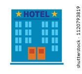 vector hotel building   modern... | Shutterstock .eps vector #1120793819