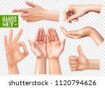 human hands gestures realistic... | Shutterstock .eps vector #1120794626