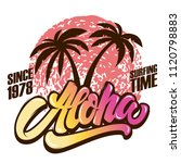 Aloha. Surfing Time. Poster...
