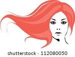 fashion girl | Shutterstock .eps vector #112080050