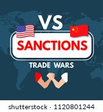 economic sanctions. trade wars... | Shutterstock .eps vector #1120801244