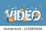 video concept illustration....   Shutterstock .eps vector #1120805636
