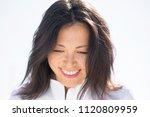 portrait of an asian woman...   Shutterstock . vector #1120809959