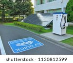 electric vehicle charging  ev ... | Shutterstock . vector #1120812599