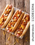 Authentic Chili Hot Dog With...