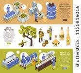 olive harvesting conservation... | Shutterstock .eps vector #1120816016