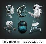 vector realistic set of... | Shutterstock .eps vector #1120821776