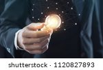 hand of businessman holding... | Shutterstock . vector #1120827893