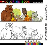 coloring book or page cartoon... | Shutterstock .eps vector #112082918