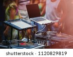 open air music festival stage... | Shutterstock . vector #1120829819