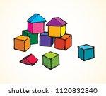 small plastic kit set on light... | Shutterstock .eps vector #1120832840