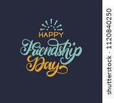 happy friendship day  hand... | Shutterstock .eps vector #1120840250