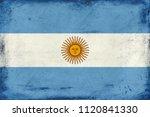 vintage national flag of...   Shutterstock . vector #1120841330